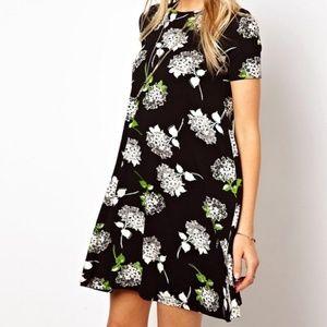 f1faf7e9dc ASOS Dresses | Swing Dress In Mono Floral Print | Poshmark